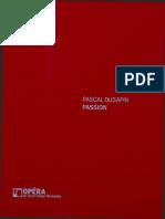 Passion opera dusapin