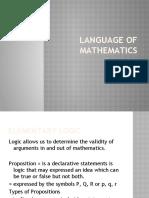 2. Language of Mathematics - Elementary Logic