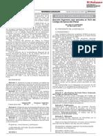 Decreto Supremo que aprueba el TUO del Código de Ejecución Penal
