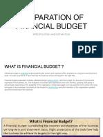 Preparation of Financial Budget