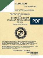 TM 10698A-10 .1 M1014 Combat Shotgun Semi-Automatic
