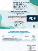 E-Sertifikat Sekolah masa depan an. ZAINUL MUJTAHID, S.Pd., M.Si.P.