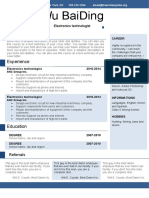 Business Resume with One Page-WPS Office