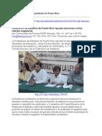21-02-01 Federación de Maestros de Puerto Rico repudia sanciones contra liderato magisterial