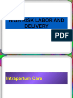 topic 4 HIGH RISK LABOR & DELIVERY