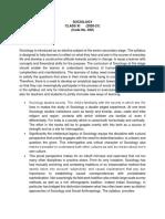 Revised CBSE Class 11 Sociology Syllabus 2020-21