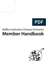 Raffles Institution Chinese Orchestra Member Handbook 2011 (as of 2011-02-14 by Toh Han)
