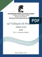 Anais Do Coloquio 14 Vol 25
