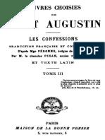 OEuvres Choisies de Saint Augustin (Tome 3) 000000926