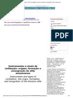 Instrumentos e Sinais Da Civilização_ Origem, Formação e Consagração Da Elite Amazonense
