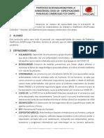 Protocolo de Bioseguridad Prevención del COVID 19 EQUIPOS DE CAMPO