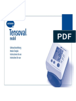 Manual Del Tensiómetro de Muñeca