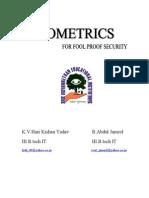 13 Bio Metrics -- Fool Proof Security