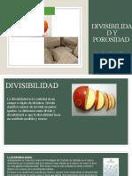 Divisibilidad y Porosidad