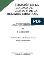 P. a. Hilllaire - Demostracion de La Divinidad de Jesucristo y de La Religion Cristiana Cod3005