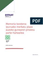 Ipurua Merkatu Plaza Prozesu Parte Hartzailearen Memoria Txostena