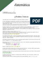 Matemática - Produtos Notáveis e Fatoração