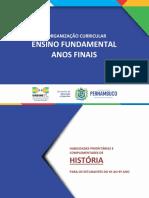 ANOS FINAIS - HISTÓRIA - REORGANIZAÇÃO CURRICULAR