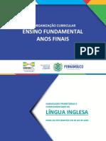 ANOS FINAIS - LÍNGUA INGLESA - REORGANIZAÇÃO CURRICULAR