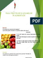 Rolul Fructelor Și Legumelor in Alimentatie