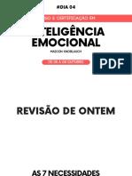 AULA 04 - CURSO E CERTIFICAÇÃO EM INTELIGÊNCIA EMOCIONAL