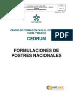 Formulas de Postres Nacionales