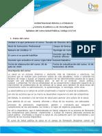 Syllabus del curso Salud Pública 151017