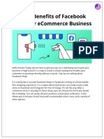 Top 5 Benefits of Facebook Shops for ECommerce Business