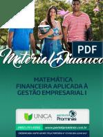 Módulo 2 - Matemática Financeira Aplicada à Gestão Empresarial - 1