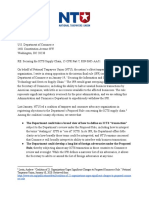 NTU Letter On IFR To Commerce Department 1_25_21