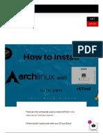 Instalar Refind en Arch