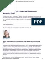 P&R_ Convenção Da OIT Sobre Violência e Assédio_ Cinco Perguntas-chave