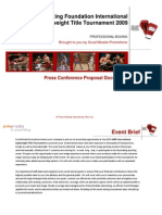 Professional Boxing Press Conference Proposal-2009