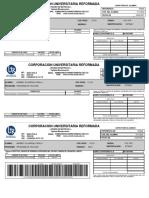 recibo de pago certificado de notas por semstre
