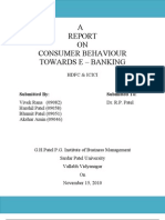 consumer behaviour towards E-Banking- Final report