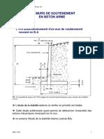 Projet 2- Dimensions MUR SOUTENEMENT