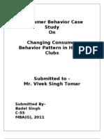 Consumer Behavior of Gym goers