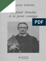 Steiner Rudolf - La Pensée Humaine Et La Pensée Cosmique