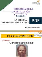 Sesión 01 Ciencia y Paradigma de Investigación