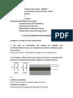 2ª Lista - exercícios Corrosão - Período Remoto