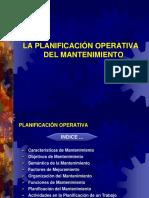 4-LA PLANIFICACIÓN OPERATIVA DEL MANTENIMIENTO