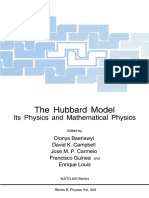 (NATO ASI Series 343) Elliott H. Lieb (Auth.), Dionys Baeriswyl, David K. Campbell, Jose M. P. Carmelo, Francisco Guinea, Enrique Louis (Eds.) - The Hubbard Model_ Its Physics and Mathematical Physics