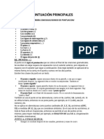 GUÍA DE SIGNOS DE PUNTUACIÓN PRINCIPALES