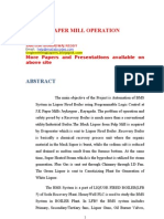 Paper Mill Operation and Theory
