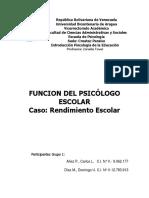 PAPEL DEL PSICOLOGO EDUCATIVO (Rendimiento Escolar) - GRUPO 1