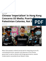 Chinese 'Imperialism' in Hong Kong Concerns US Media; Puerto Rican, Palestinian Colonies, Not So Much — FAIR