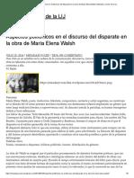 Aspectos polifónicos en el discurso del disparate en la obra de María Elena Walsh _ Miradas y voces de la LIJ