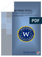 Informe Intell Inteligencia Cubana en Argentina
