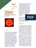 Renewable Energy Sources Using Solar