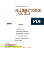 Renewable Source ' FUEL CELLS'